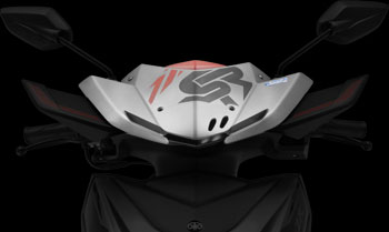 YAMAHA RAY ZR STREET RALLY BOLD NEW VISOR